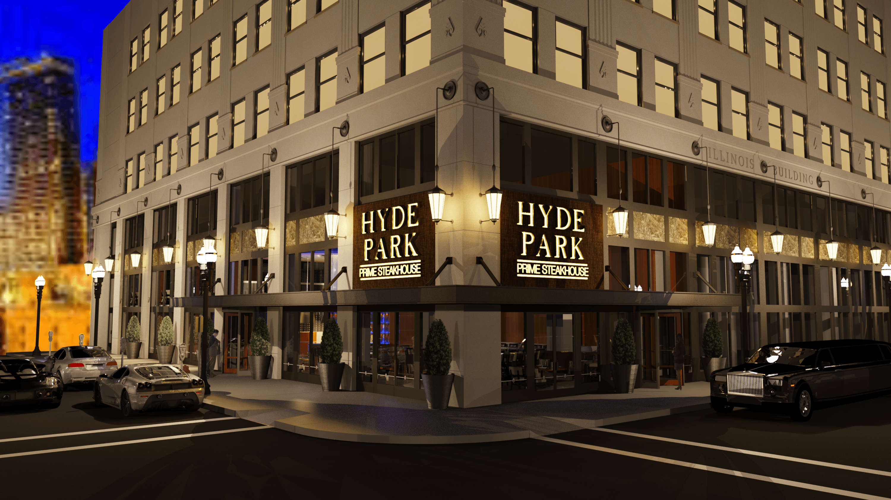Hyde Park Prime Steakhouse Set For Downtown Indy S Illinois Building Development Keystone Construction And Realty Group